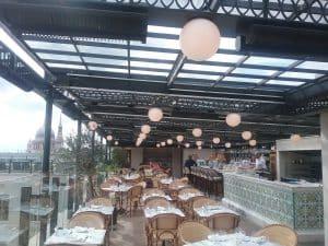 lighting in restaurant