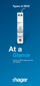 Hager electrical RCDs at a glance